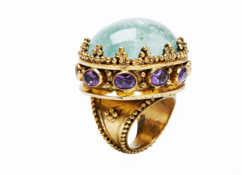 Beaded Crown Ring