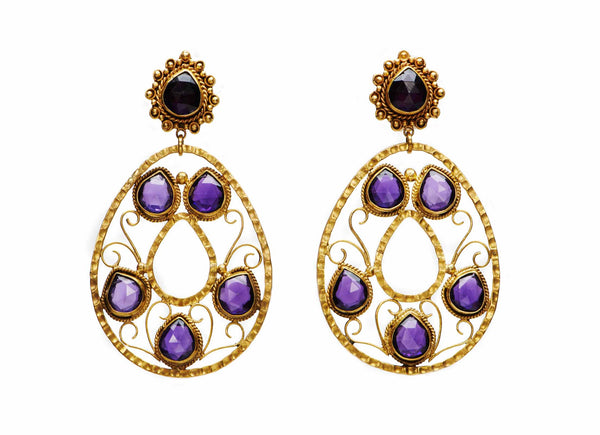 Tax co Earrings with Amethyst