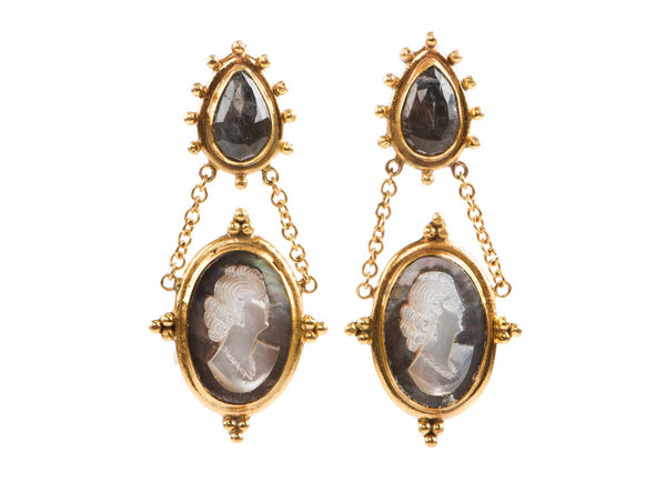 Hanging Cameo Earrings