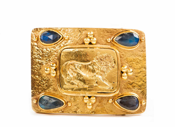 Cast Lion Belt Buckle