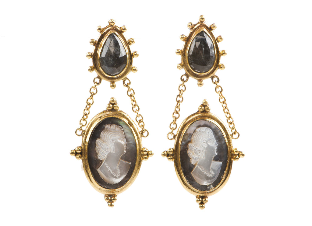 Cameo Drop Earrings