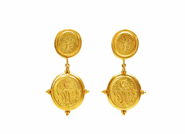 Cast Intaglio Earrings