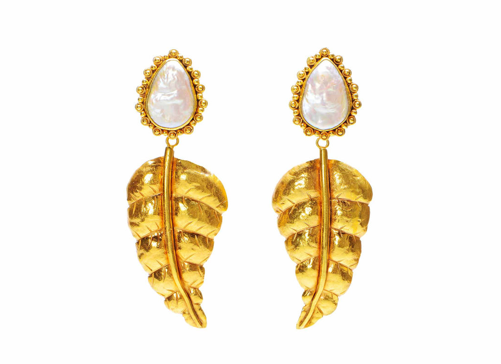 Botanical Leaf Earrings