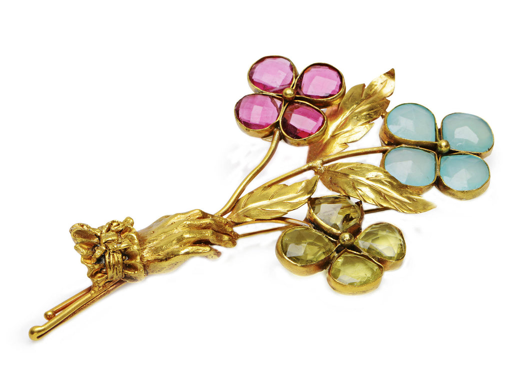 Flowers in Hand Brooch