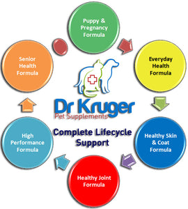 Our formulas support your dog's life stages from conception to twilight years