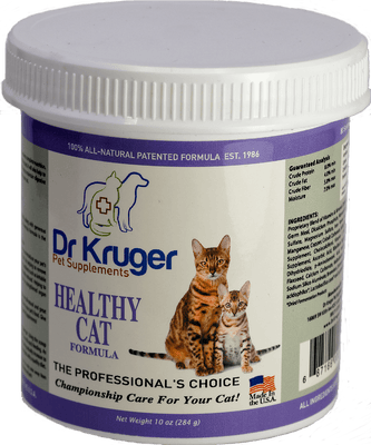 Dr Kruger Healthy Cat Formula 10 Ounce Supplement