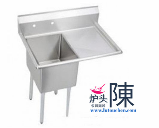 餐馆单眼水槽带右排水板 2424-1R One Compartment Sink With Right Drainboard