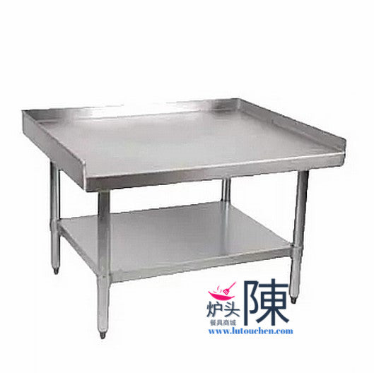 餐馆不锈钢设备台带三向防溅板带下层置物架2424 Stainless Steel Equipment Stands With Adjustable Galvanized Undershelf