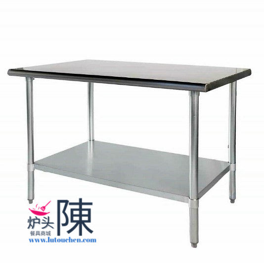 餐馆不锈钢工作台带可调下层储物架2460 Stainless Steel Work Table With Adjustable Galvanized Undershelf