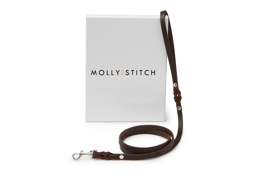 Butter Leather City Dog Leash - Classic Brown