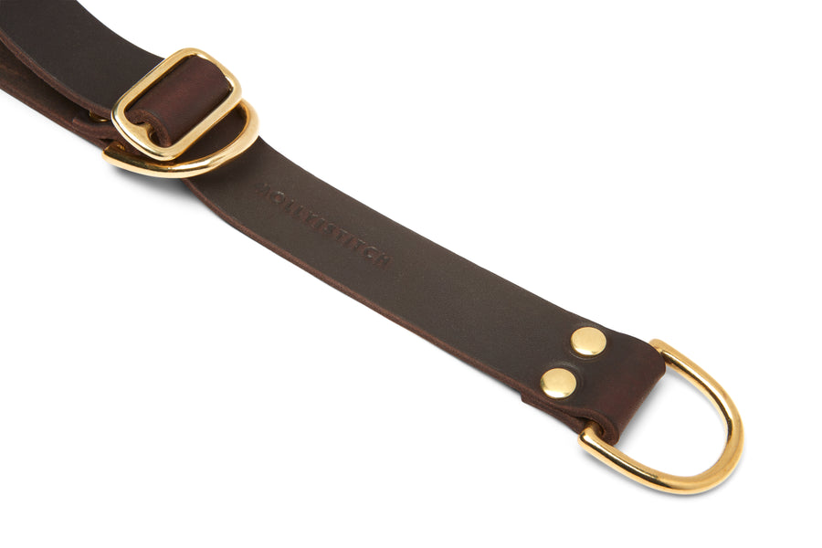 Butter Leather Retriever Dog Collar - Classic Brown