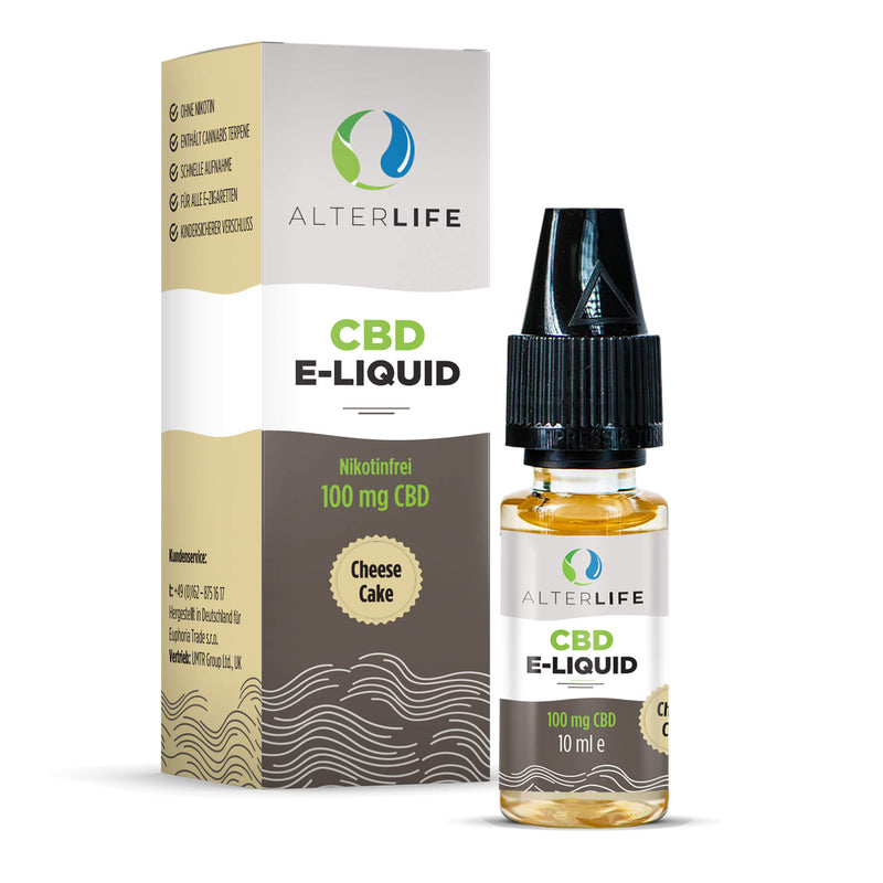 Alterlife - CBD E-Liquid (100 mg) - Cheese Cake