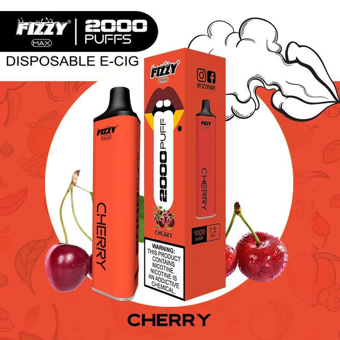 fizzy max cherry disposable vape