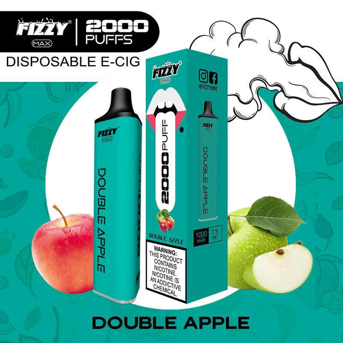 fizzy max double apple disposable vape