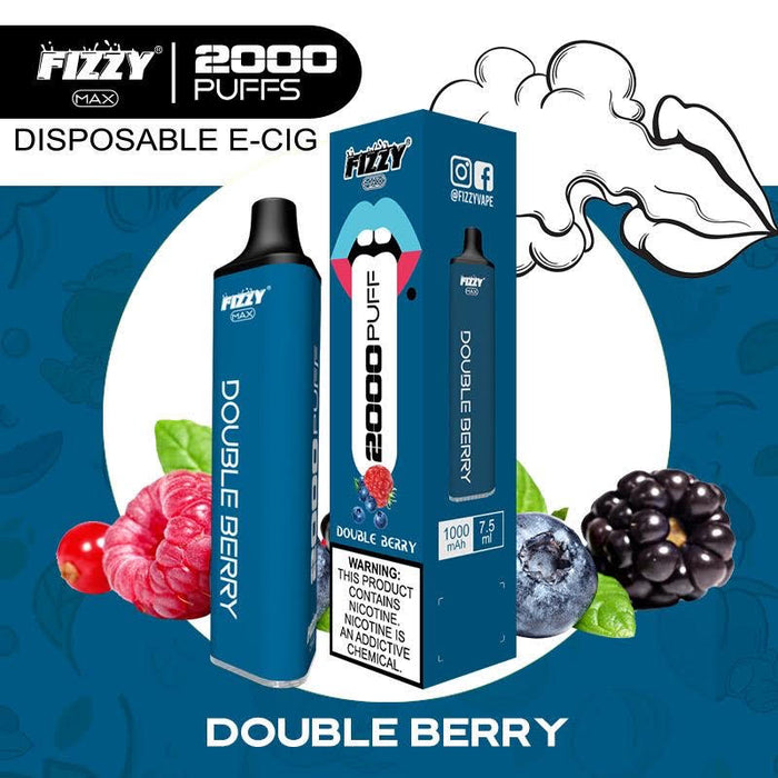 fizzy max double berry disposable vape