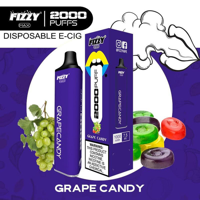 fizzy max grape candy disposable vape