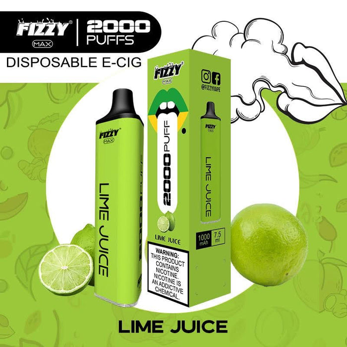 fizzy max lime juice disposable vape