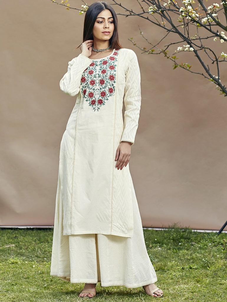 Cotton Kurta Sharara Set 3443
