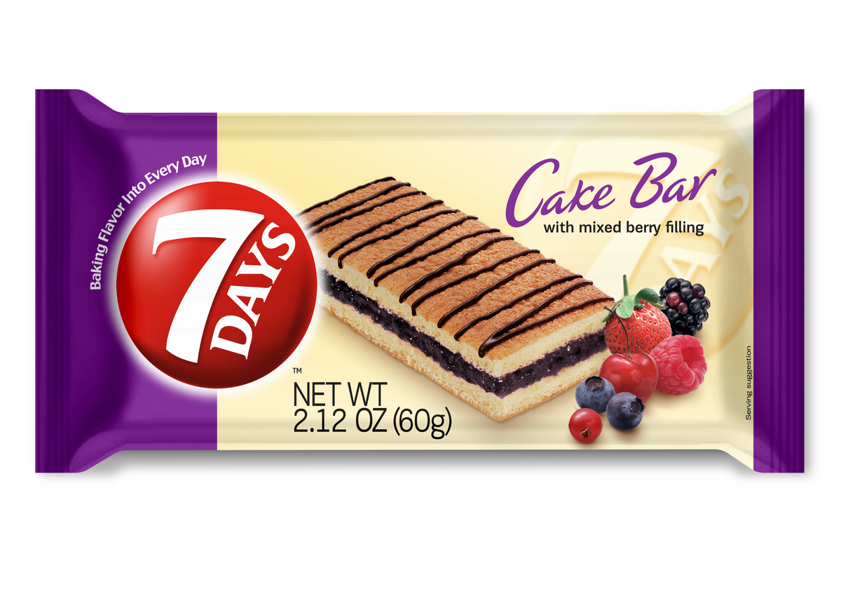 Cake Bars, Mixed Berry (2.12oz, Pack of 16)