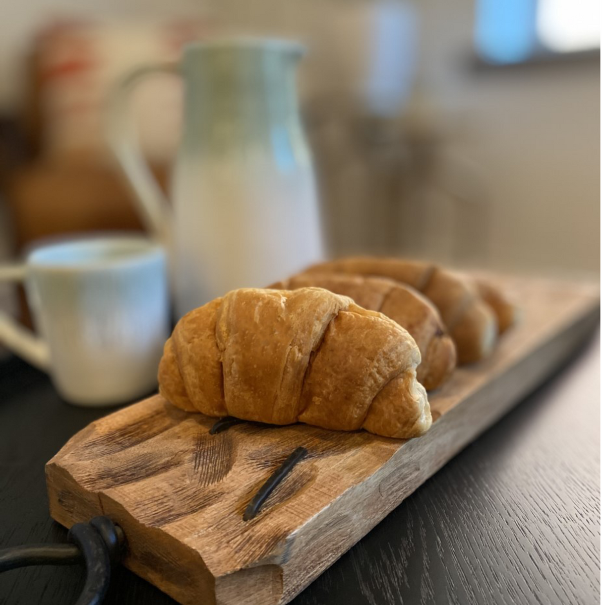 croissants on tray