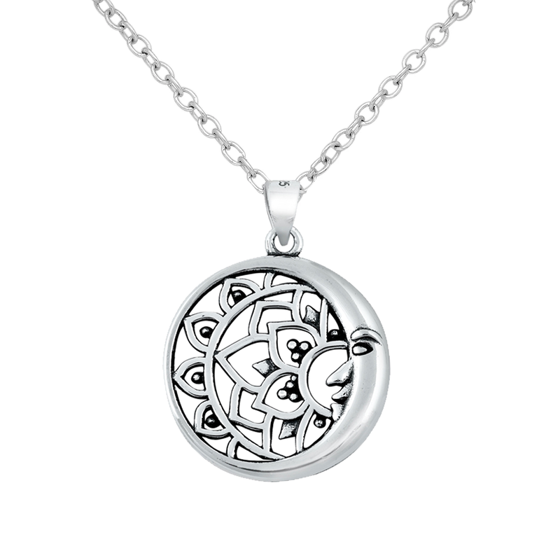 Mandala Moon Necklace