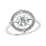 Compass Moonstone Ring