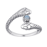 Medusa Moonstone Ring