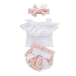 PomPom Bloomer Baby Set