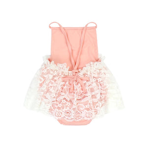 Princess Lace Romper & Bow Headband