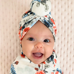 Swaddle Blanket & Matching Turban Set