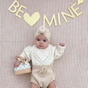 Hearts Sweater Romper
