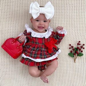 Plaid Bow Romper