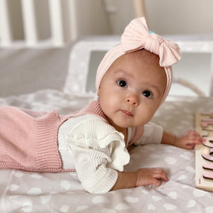 grace blush pink headband baby