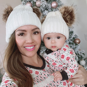 Mommy & Me Pompom Beanies