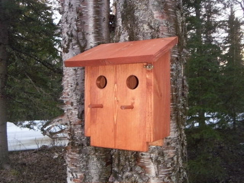 The Alaskan Double Unit Bird House Plans
