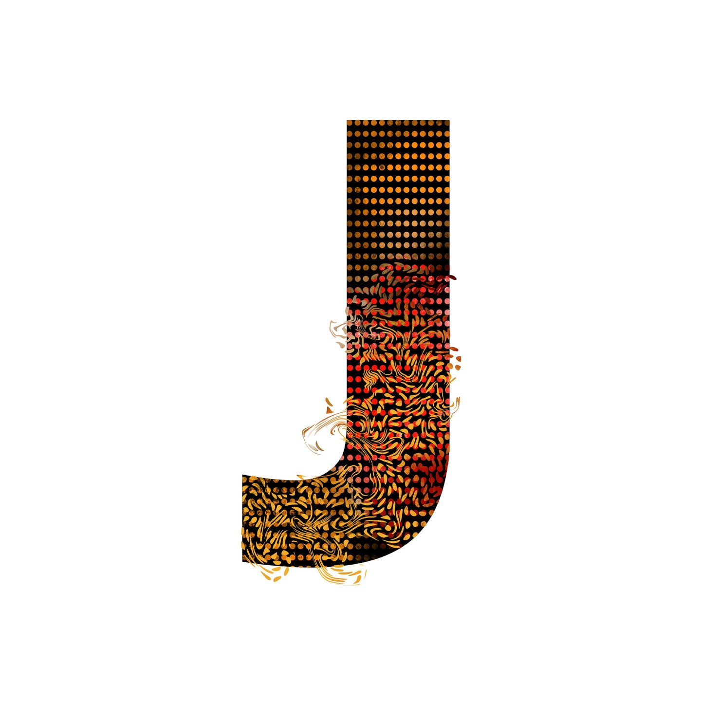 'WILD J' From the Wild Alphabet.