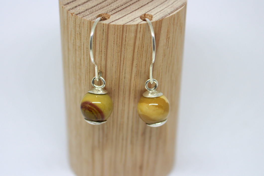 Mookaite & Sterling Silver Earrings