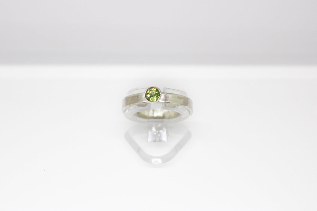 Peridot & Sterling Silver Ring