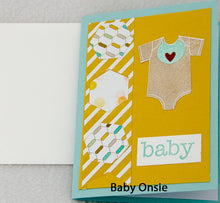 Load image into Gallery viewer, Handmade Baby Cards