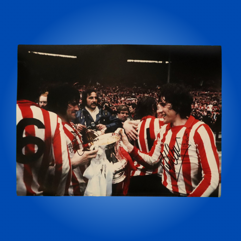 Billy Hughes & Vic Halom Cup 1973 Signed A4 Print