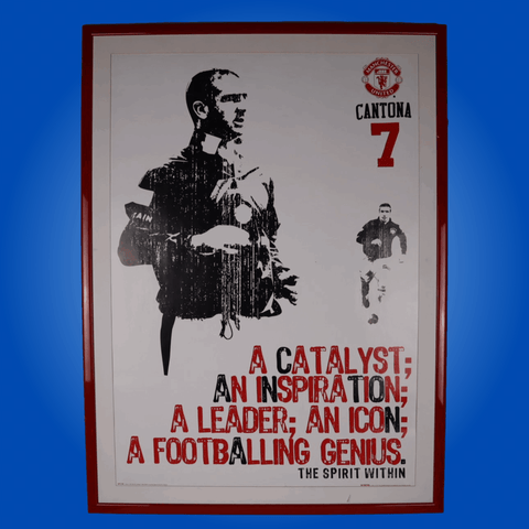 Vintage Framed Print of Cantona at Manchester United