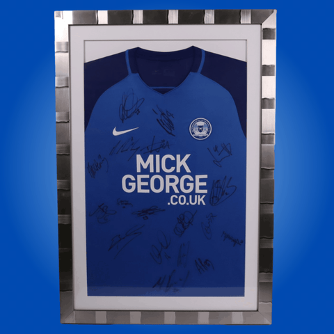 Framed Peterborough 2017-2018 Shirt *SIGNED*