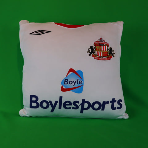 White Sunderland Player Training Away Vest Shirt Cushion