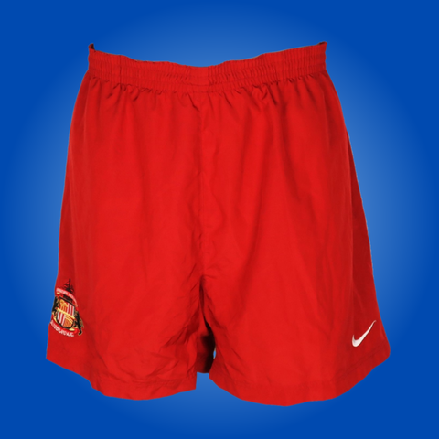 Vintage Sunderland Player Issue Red Nike Training Shorts