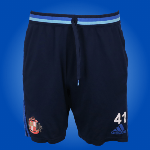 Sunderland Player Worn Blue Adidas Training Shorts *Medium*