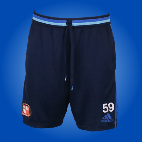 Vintage Sunderland Player Worn Blue Adidas Training Shorts *Large*