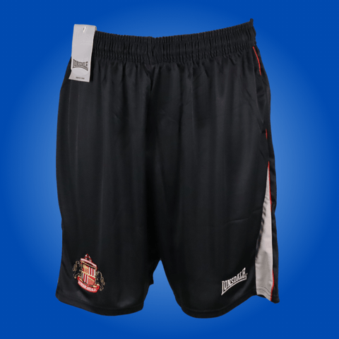 Sunderland Player Issue Black Lonsdale Training Shorts *LARGE*