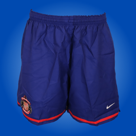 Sunderland Player Issued Blue Nike Training Shorts