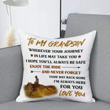 To My Grandson, I'm Alwaws Here For You, Personalization Pillow cover