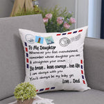 Dad To Daughter, You'll Always Be My Baby Girl, Personalization Pillow cover